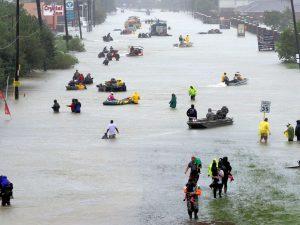 Hurricane Harvey flooding in Houston, Texas